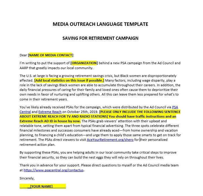 Media Outreach Language Template Final